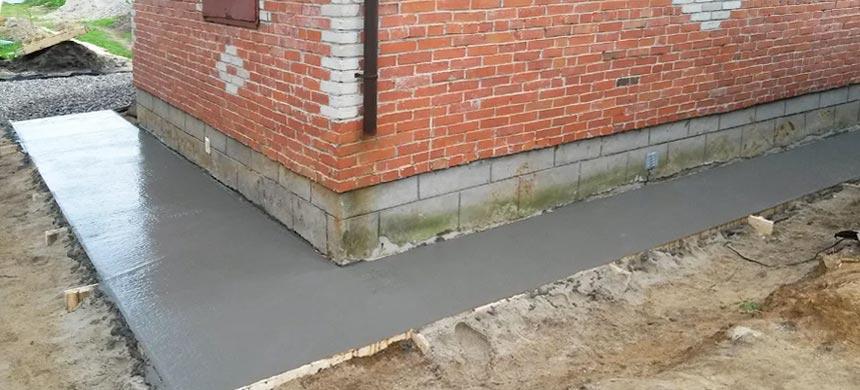 Отмостка из бетона