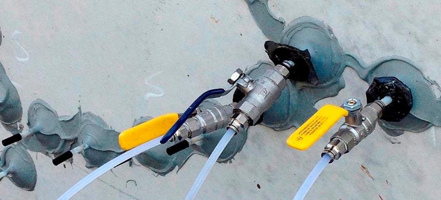 Отсечная гидроизоляция инъектированием
