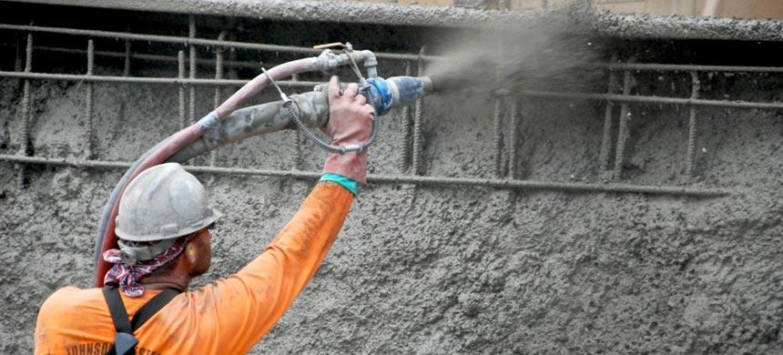Торкретирование цементными растворами