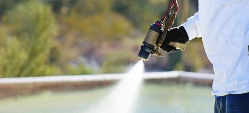 Устройство напыляемой гидроизоляции