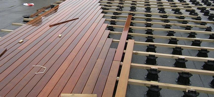 Монтаж эксплуатируемой крыши