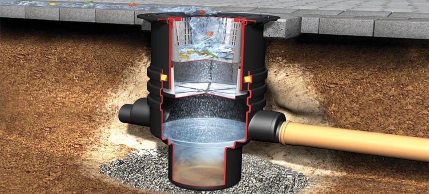 Дренажные колодцы для ливневой канализации