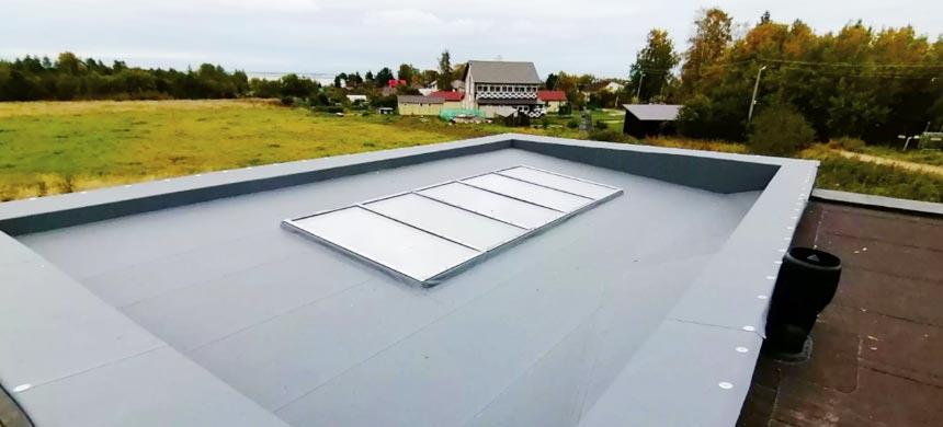 Неэксплуатируемая плоская крыша
