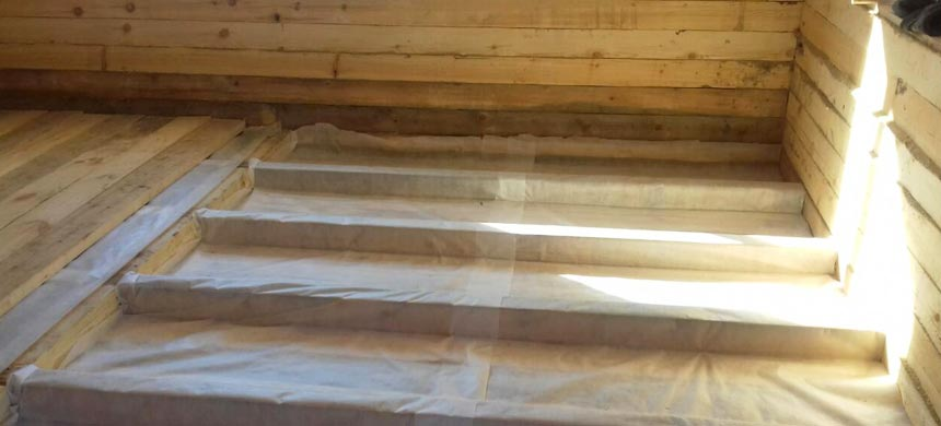 Пароизоляция для деревянного пола
