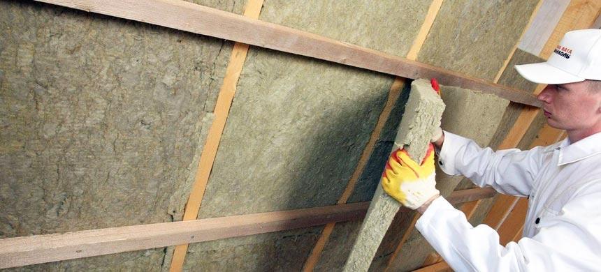 Утеплить крышу дома каменной ватой