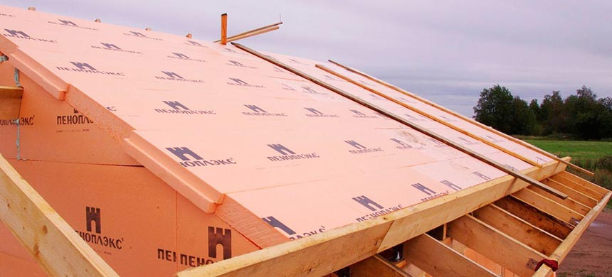 утеплить крышу дома пенополистиролом