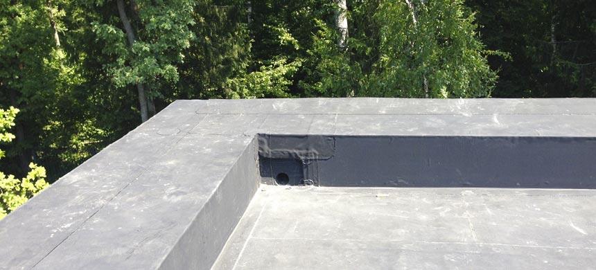Внутренний водосток на крыше