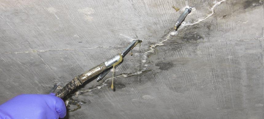Инъектирование для гидроизоляции швов